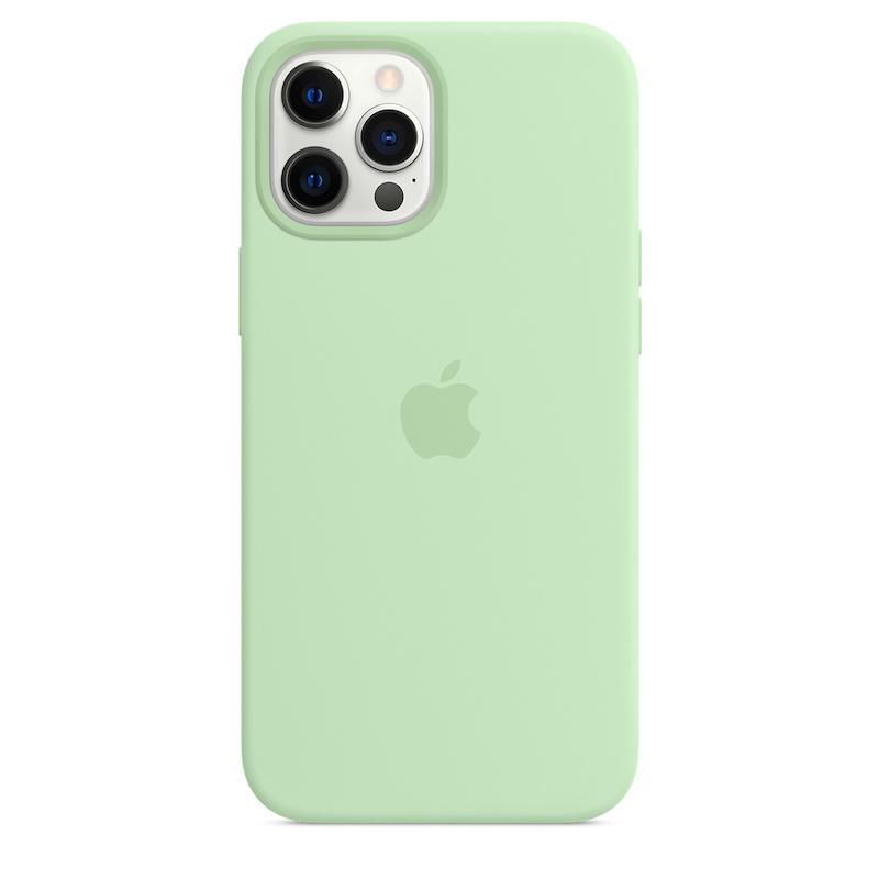 Capa para iPhone 12 Pro Max em silicone com MagSafe - Pistáchio