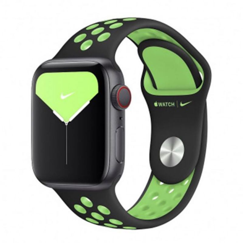 Bracelete desportiva Nike para Apple Watch 38 a 41 mm S/M & M/L - Preto/Lime