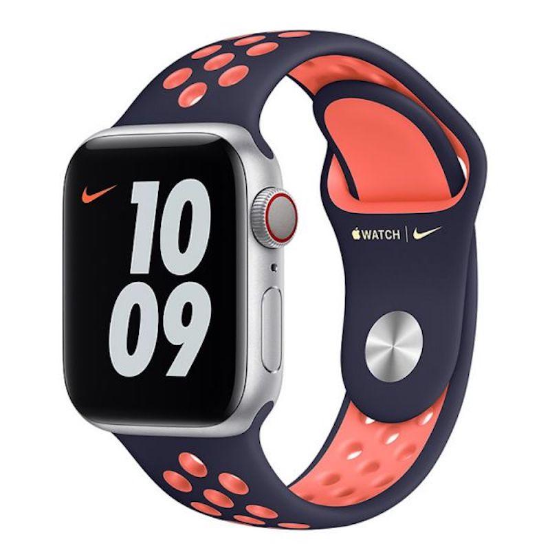 Bracelete desportiva Nike para Apple Watch (40/38 mm) S/M & M/L - Preto/Manga