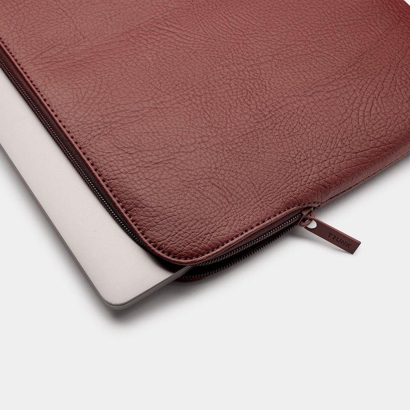 Sleeve Trunk MacBook Pro e Air 13 Apple Peel Vegan Leather Wine Red