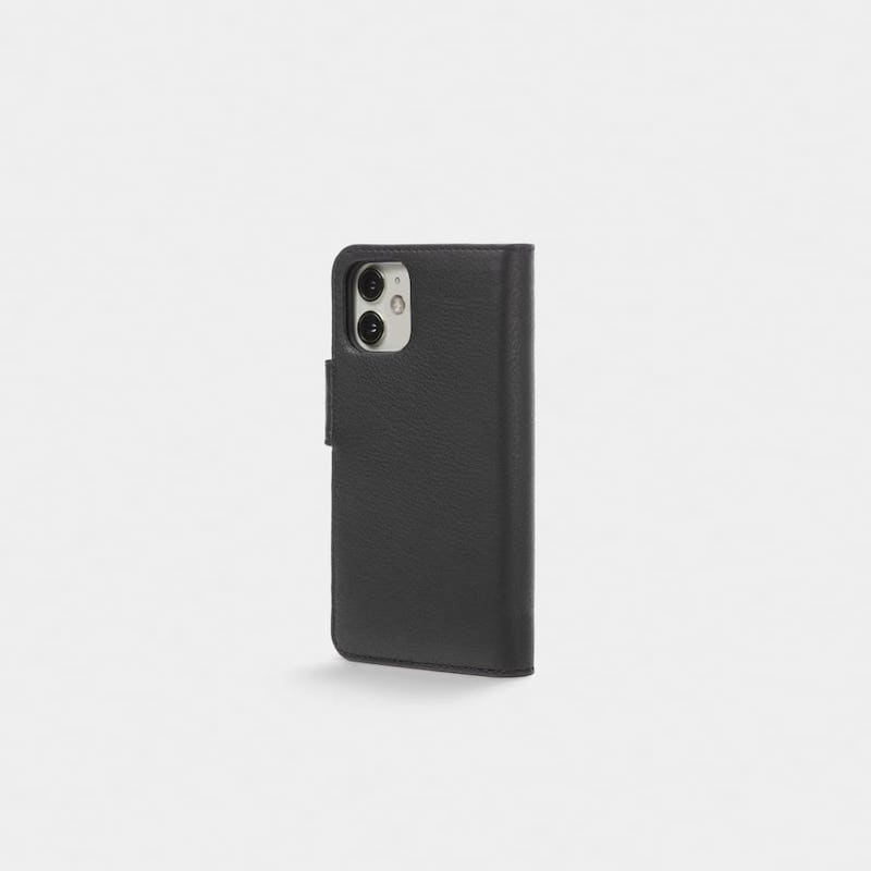Capa Trunk Wallet iPhone 12/12 Pro Leather Black