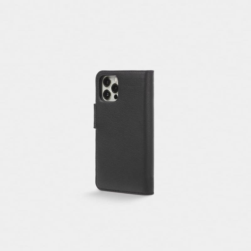 Capa Trunk Wallet iPhone 12 Pro Max Leather Black