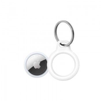 Conjunto composto por AirTag (1 uni.) e Suporte Belkin para AirTag com porta-chaves branco