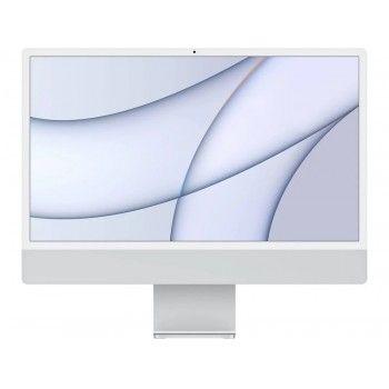 """iMac 24"""" Retina 4.5K M1 8C CPU /7C GPU /8GB /256GB (com upgrade Ethernet Gigabit)- Silver"""