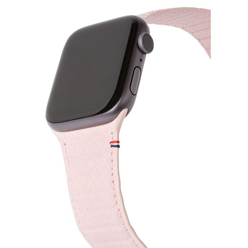 Bracelete Magnética Decoded em Pele Traction LITE para Apple Watch 38 a 41 mm  -  Silver Pink