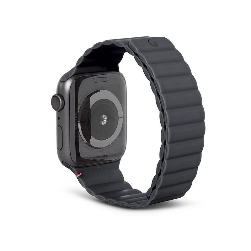 Bracelete Magnética Decoded Silicone Traction para Apple Watch 42/44mm - Charcoal