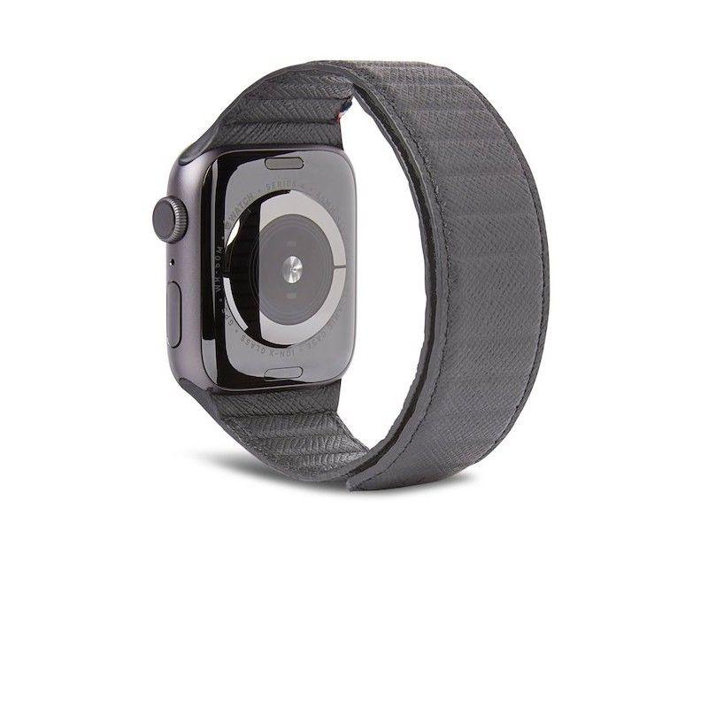 Bracelete Magnética Decoded em Pele Traction LITE para Apple Watch 42/44mm Antracite