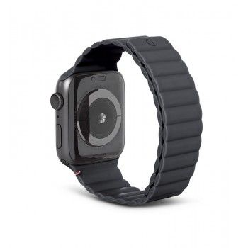 Bracelete Magnética Decoded Silicone Traction para Apple Watch 42 a 45 mm - Charcoal