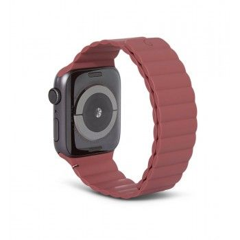 Bracelete Magnética Decoded Silicone Traction para Apple Watch 42 a 45 mm - Rust