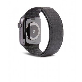 Bracelete Magnética Decoded em Pele Traction LITE para Apple Watch 38 a 41 mm - Preto
