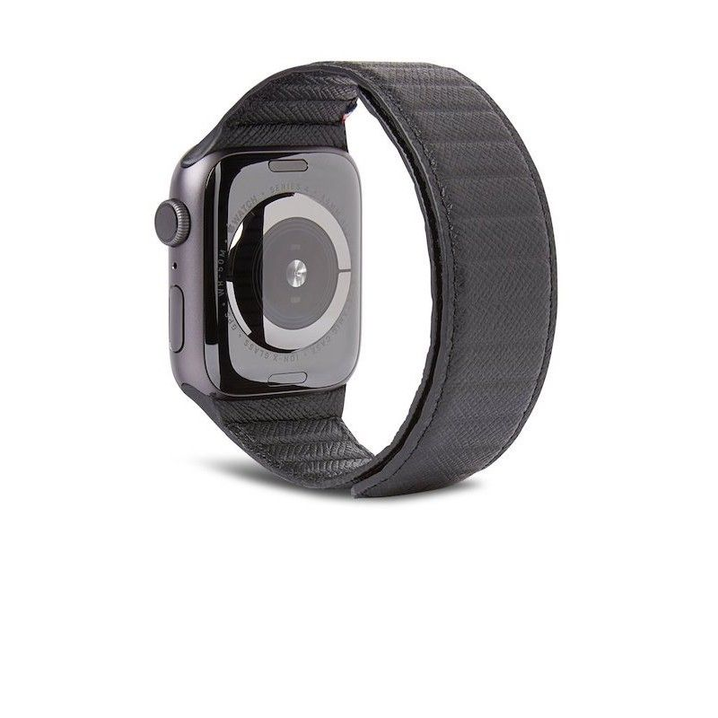 Bracelete Magnética Decoded em Pele Traction LITE para Apple Watch 38/40mm - Preto