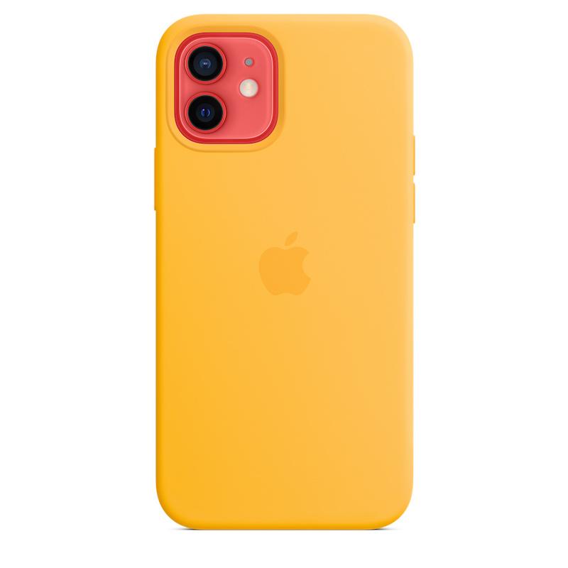 Capa para iPhone 12   12 Pro em silicone com MagSafe - Amarelo girassol