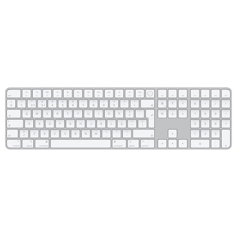 Magic Keyboard com Touch ID e teclado numérico para modelos de Mac com processador de silício da App