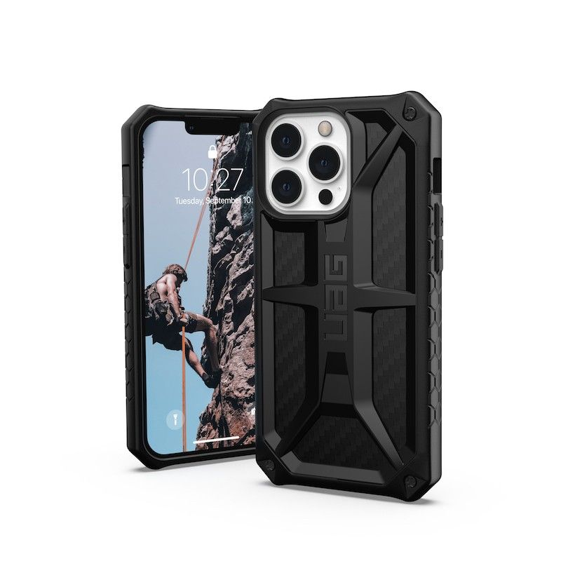 Capa UAG Monarch para iPhone 13 Pro Carbon Fiber