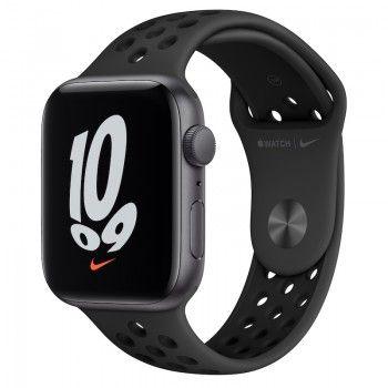 Apple Watch Nike SE, GPS 44 mm - Cinzento sideral, bracelete Nike Antracite/Preto