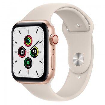 Apple Watch SE, GPS+Cellular 44 mm - Dourado, bracelete desportiva Luz das estrelas