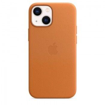 Capa em pele com MagSafe para iPhone 13 mini - Castanho dourado