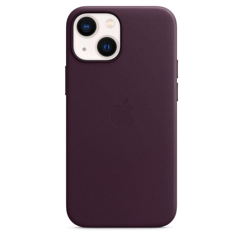 Capa em pele com MagSafe para iPhone 13 mini - Cereja escura