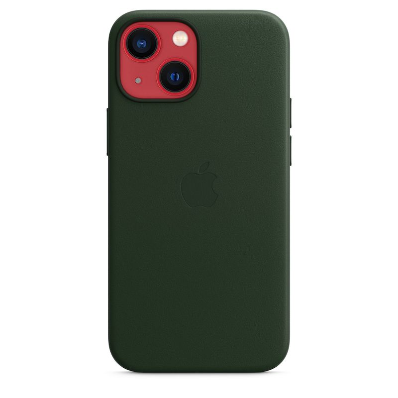Capa em pele com MagSafe para iPhone 13 mini - Verde Sequoia