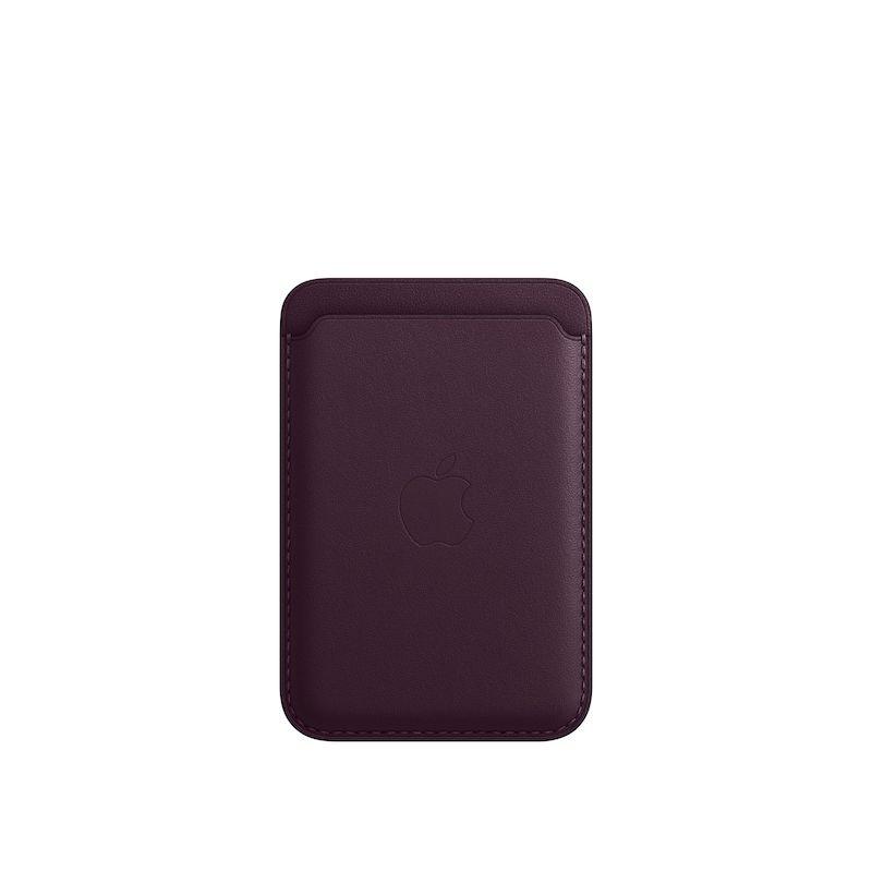 Carteira em pele com MagSafe para iPhone - Cereja escura