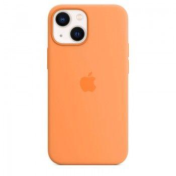 Capa em silicone com MagSafe para iPhone 13 mini - Calêndula