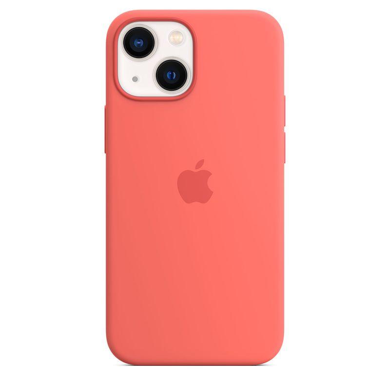 Capa em silicone com MagSafe para iPhone 13 mini - Toranja rosa