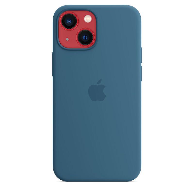 Capa em silicone com MagSafe para iPhone 13 mini - Azul-celeste
