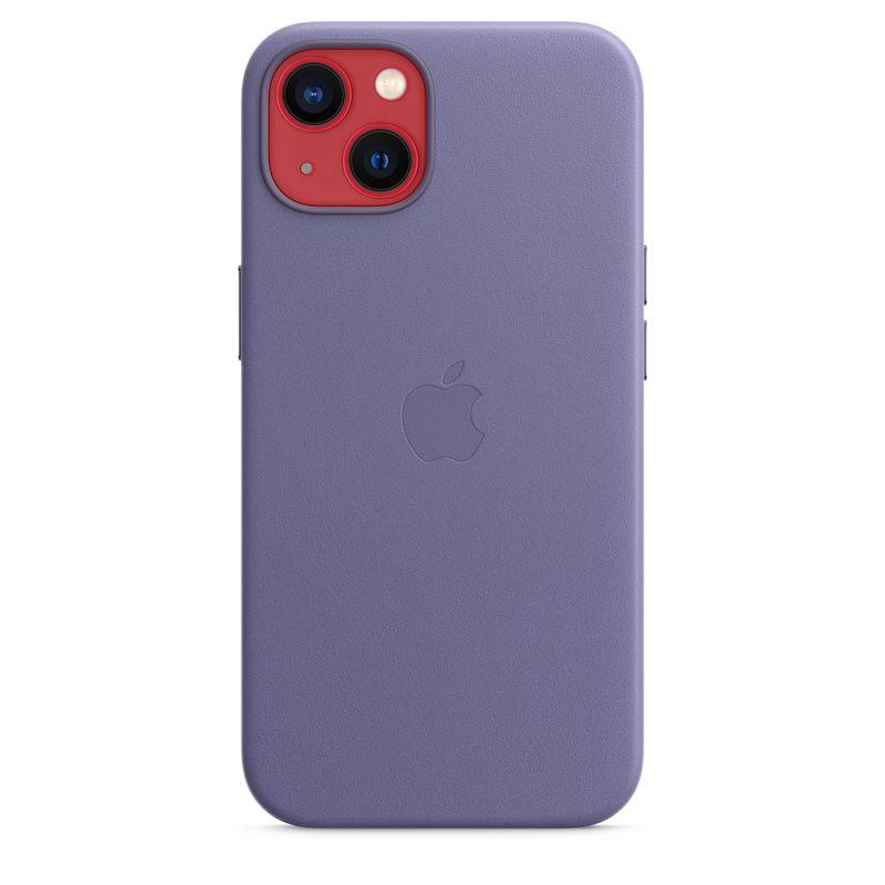 Capa em pele com MagSafe para iPhone 13 - Glicínia