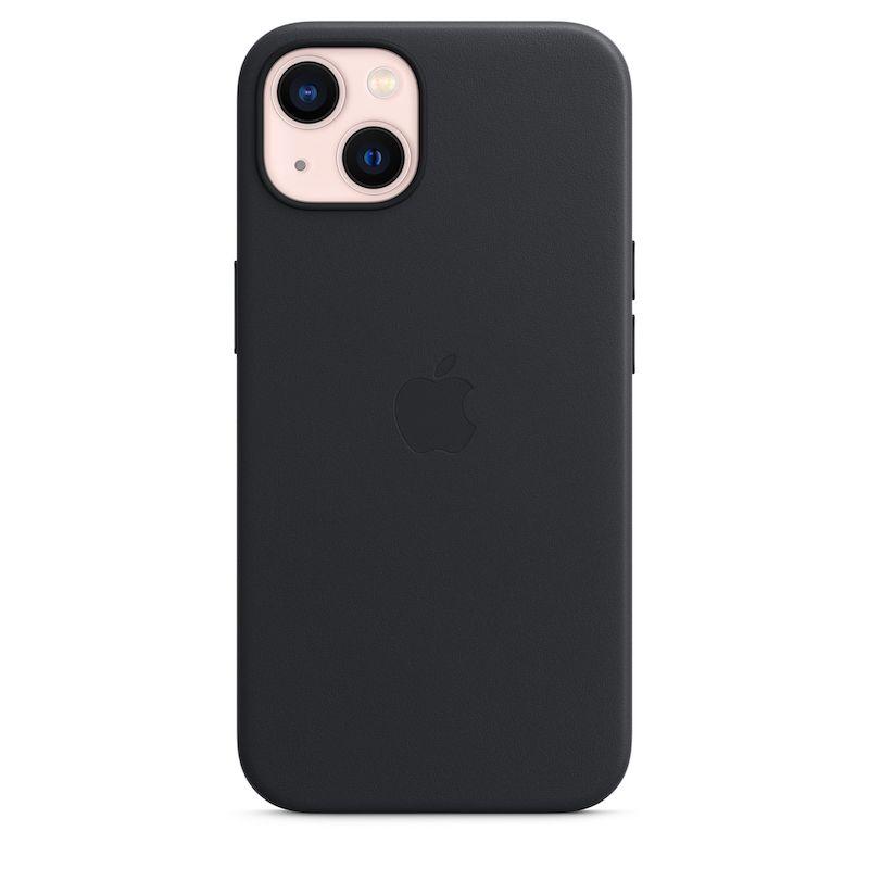 Capa em pele com MagSafe para iPhone 13 - Meia-noite