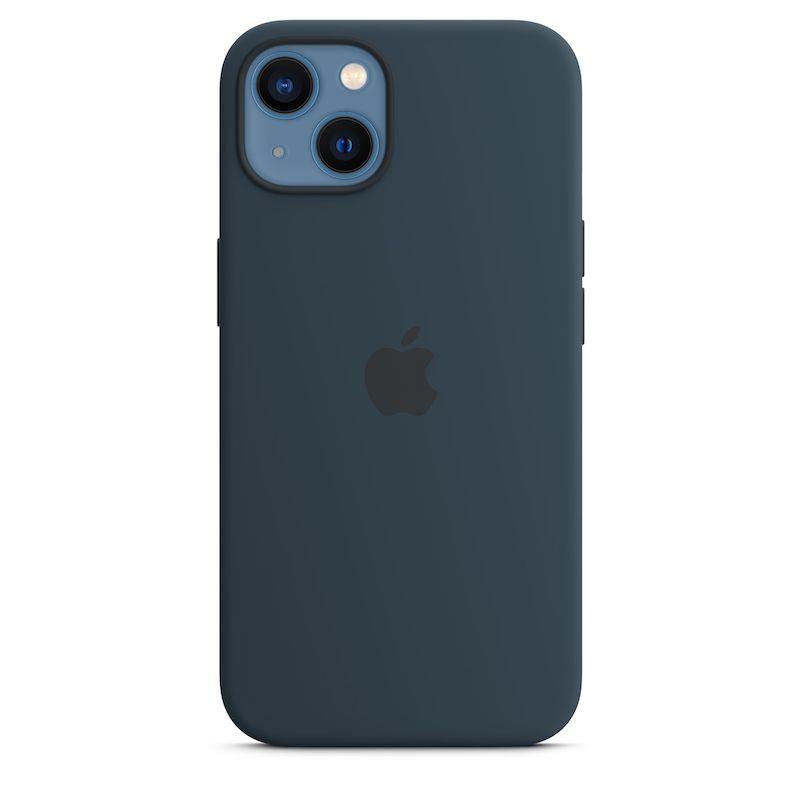 Capa em silicone com MagSafe para iPhone 13 - Azul abissal