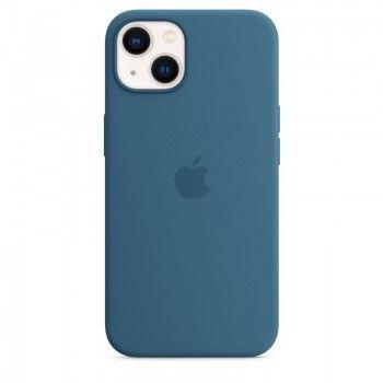Capa em silicone com MagSafe para iPhone 13 - Azul-celeste