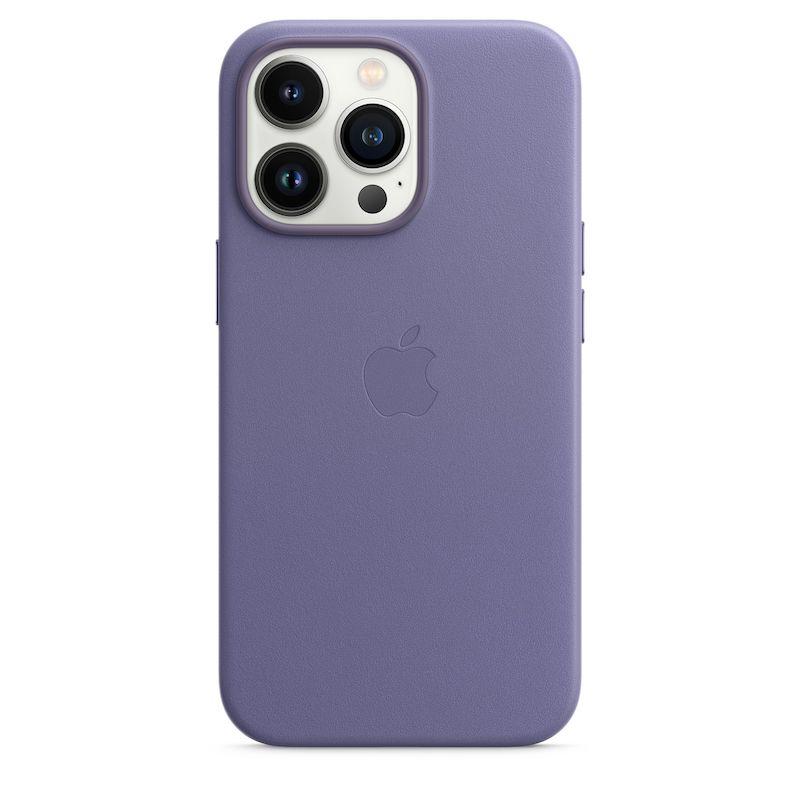 Capa em pele com MagSafe para iPhone 13 Pro - Glicínia