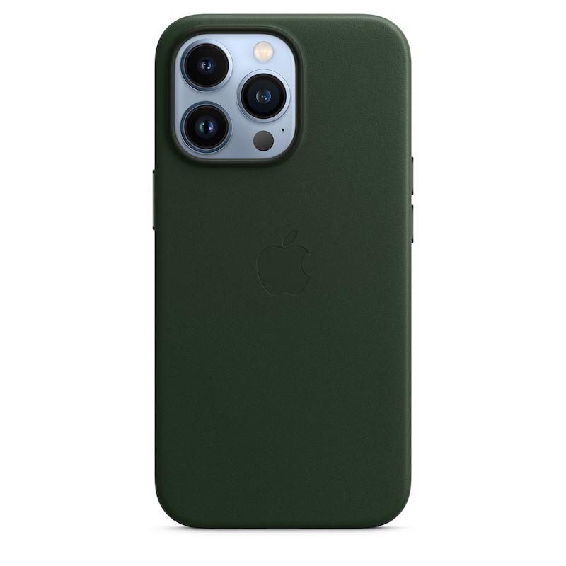 Capa em pele com MagSafe para iPhone 13 Pro - Verde sequoia