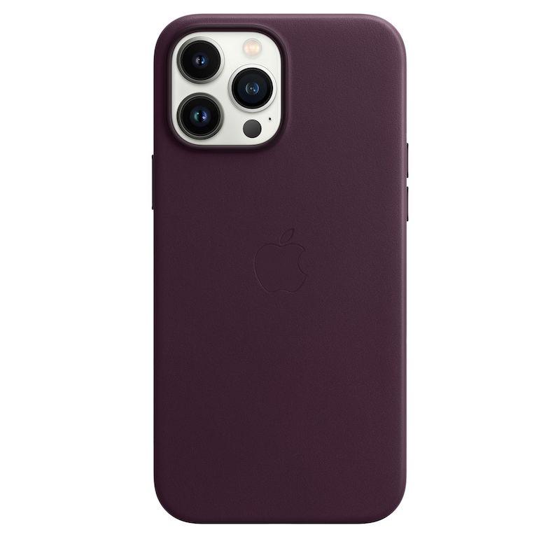 Capa em pele com MagSafe para iPhone 13 Pro Max - Cereja escura