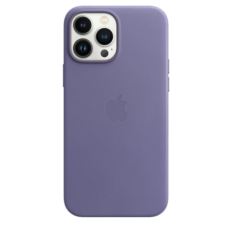 Capa em pele com MagSafe para iPhone 13 Pro Max - Glicínia