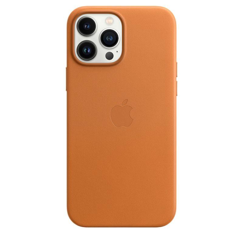 Capa em pele com MagSafe para iPhone 13 Pro Max - Castanho dourado