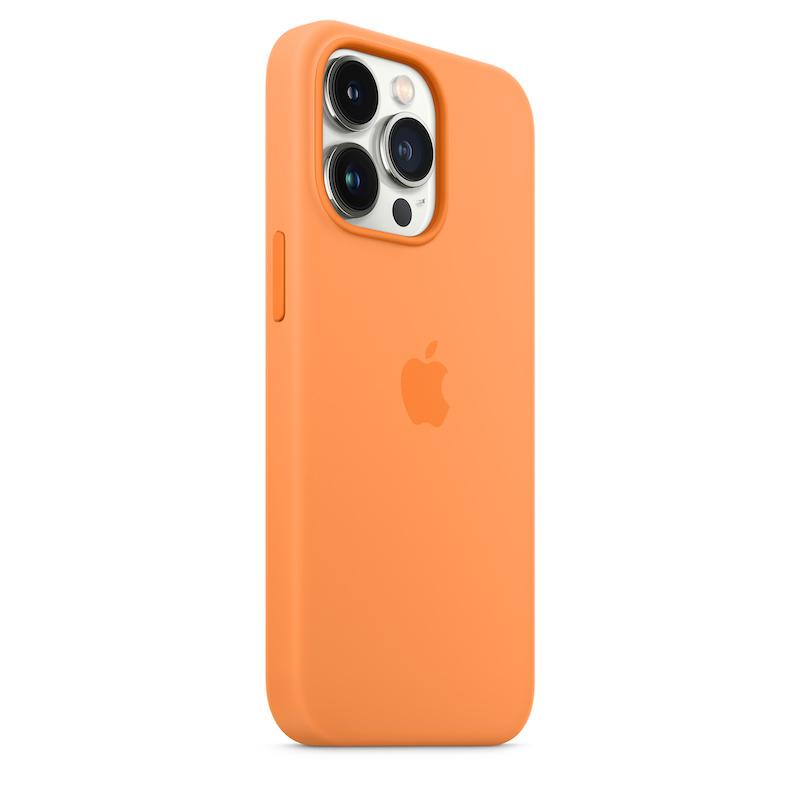 Capa em silicone com MagSafe para iPhone 13 Pro - Calêndula