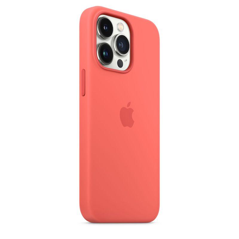 Capa em silicone com MagSafe para iPhone 13 Pro - Toranja rosa