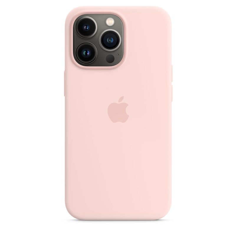 Capa em silicone com MagSafe para iPhone 13 Pro - Giz rosa