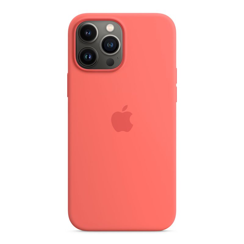 Capa em silicone com MagSafe para iPhone 13 Pro Max - Toranja rosa