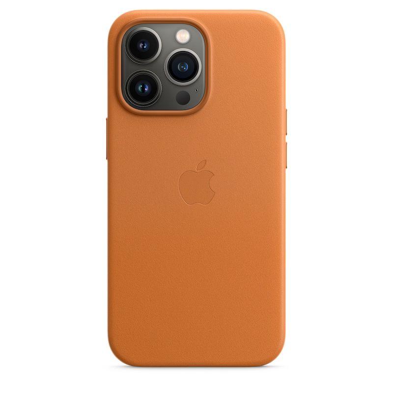 Capa em pele com MagSafe para iPhone 13 Pro - Castanho dourado