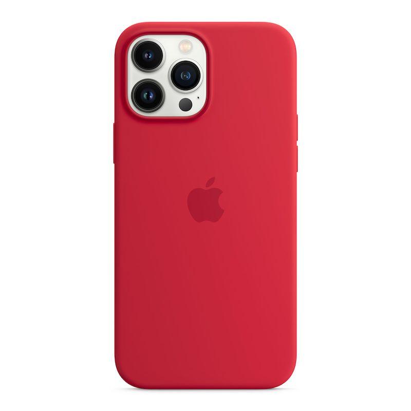 Capa em silicone com MagSafe para iPhone 13 Pro Max - Vermelho (PRODUCT)RED
