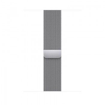 Bracelete para Apple Watch Milanesa em metal 42 a 45 mm - Prateado