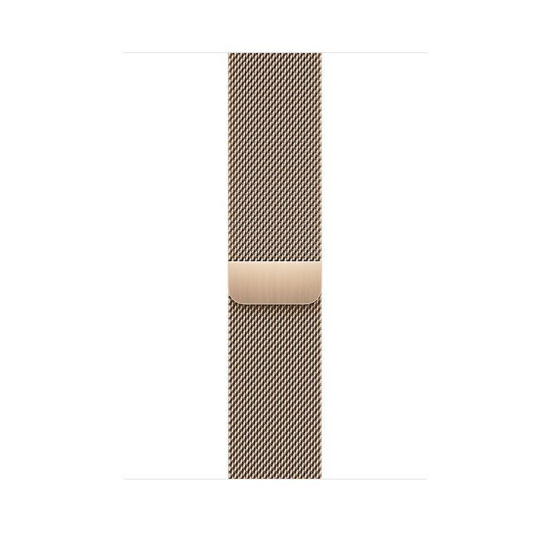 Bracelete para Apple Watch Milanesa em metal 42 a 45 mm - Dourado