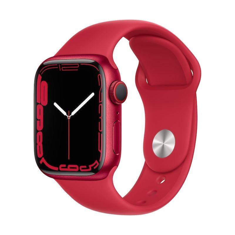 Apple Watch 7, GPS+Cellular 41 mm - Vermelho(PRODUCT)RED, bracelete vermelha(PRODUCT)RED