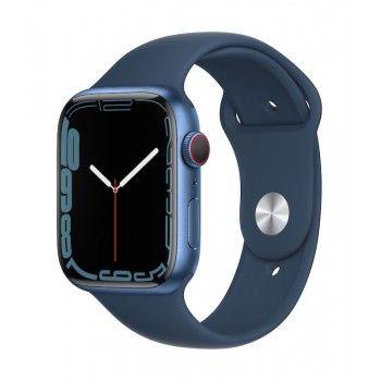 Apple Watch 7, GPS+Cellular 45 mm - Azul, bracelete desportiva azul abissal