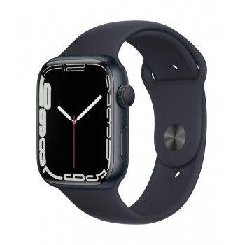 Apple Watch 7, GPS 45 mm - Meia-noite, bracelete desportiva meia-noite