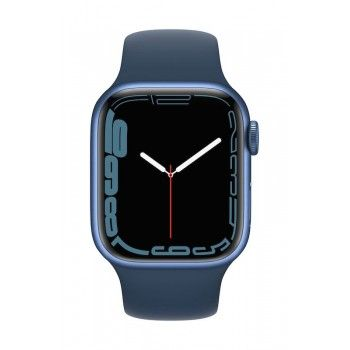 Apple Watch 7, GPS+Cellular 41 mm - Azul, bracelete desportiva azul abissal