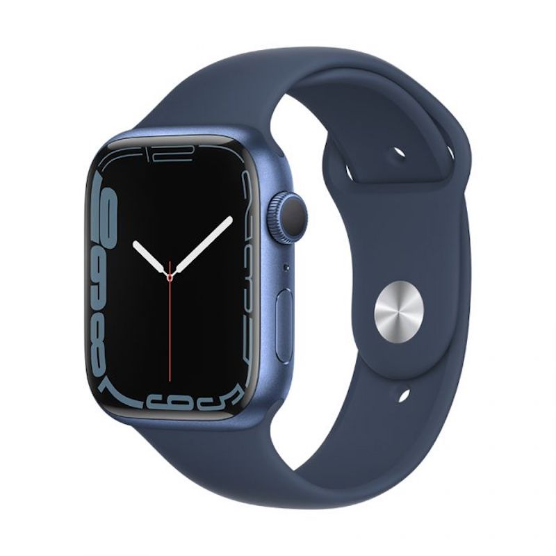 Apple Watch 7, GPS 41 mm - Azul, bracelete desportiva azul abissal